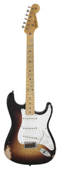 Pre-Owned Fender Custom Shop 60th Anniv 1954 Heavy Relic Strat 2 Tone Sunburst
