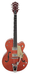 Pre-Owned Gretsch G6120SSL Brian Setzer Orange Tiger Flame