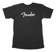 Fender Spaghetti Logo T-Shirt Black Medium