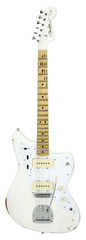 Fender Custom Shop 1958 Jazzmaster Matching Headstock Front Faded Arctic White