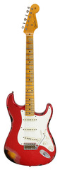 Fender Custom Shop 1957 Stratocaster Relic Red Sparkle Over 2-Tone Sunburst
