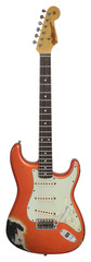 Fender Custom Shop 1960s Stratocaster Relic Candy Tangerine Over Black