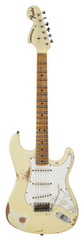 Fender Custom Shop 1969 Stratocaster Heavy Relic Reversed Headstock Aged Vintage White