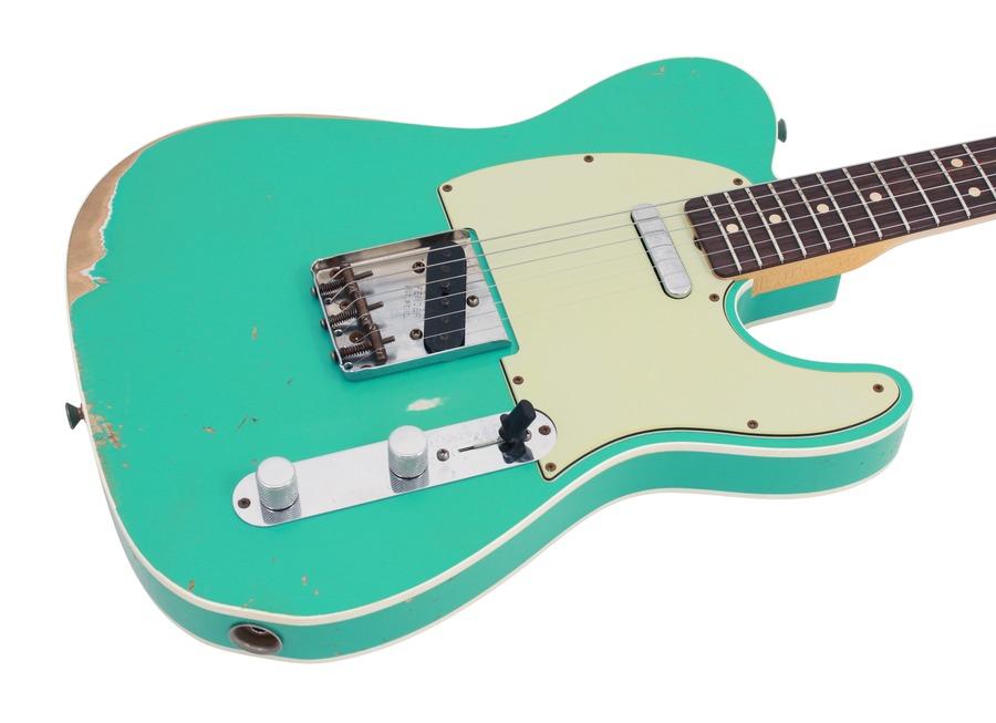 fender electric guitar custom shop 1963 telecaster custom heavy relic sea foam green rainbow. Black Bedroom Furniture Sets. Home Design Ideas