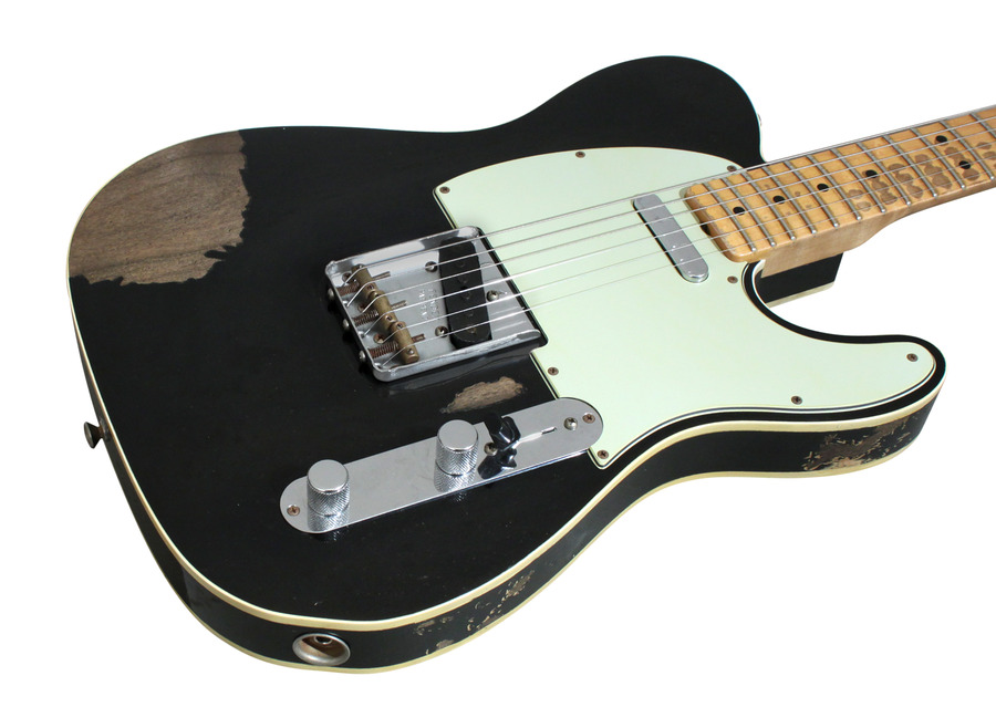 fe9231004174 xl 02 fender custom shop 1963 telecaster custom heavey relic black  at alyssarenee.co