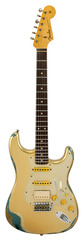 Fender Custom Shop 1960s Stratocaster HSS Heavy Relic Gold Over Sherwood Green