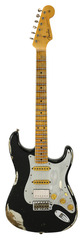 Fender Custom Shop 1960s Stratocaster HSS Heavy Relic Black Over Inca Silver