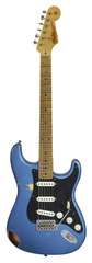 Pre-Owned Fender Custom Shop LTD Ancho Poblano Stratocaster Aged Lake Placid Blue over 2 Tone Sunburst