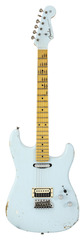 Fender Custom Shop Limited H/S Stratocaster Relic Aged Sonic Blue Matching Headstock