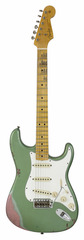 Fender Custom Shop 1964 Stratocaster Aged Sage Green Metallic over Champagne Sparkle