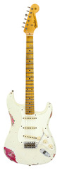 Fender Custom Shop LTD 1957 Stratocaster Heavy Relic Olympic White over Pink Paisley