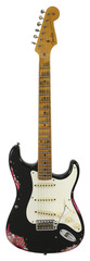 Fender Custom Shop LTD 1957 Stratocaster Heavy Relic Black over Pink Paisley