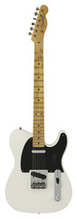 Fender Custom Shop Black Anodized Journeyman Relic Telecaster Opaque White Blonde