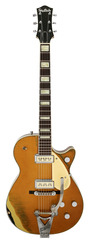 Gretsch Masterbuilt Duo Jet Relic Gold Over Black