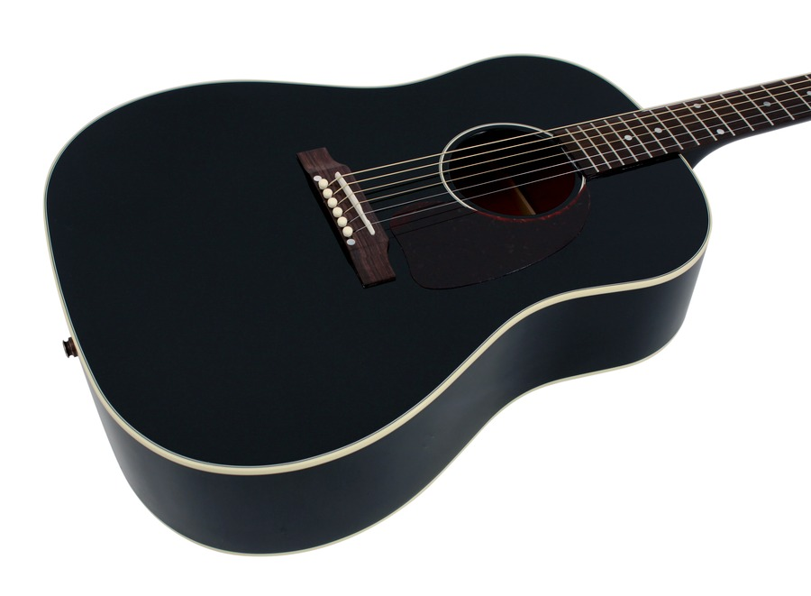 gibson j 45 ebony acoustic guitar rainbow guitars. Black Bedroom Furniture Sets. Home Design Ideas