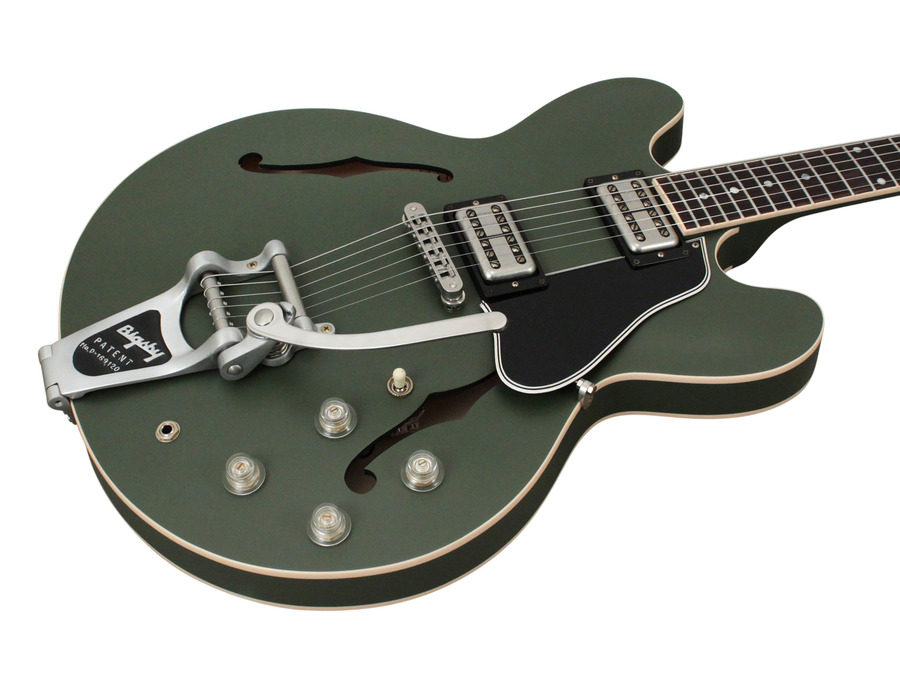 gibson chris cornell es 335 bigsby drab green limited edition rainbow guitars. Black Bedroom Furniture Sets. Home Design Ideas