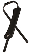 Gibson Modern Vintage Leather Guitar Strap Black with Memory Foam Pad