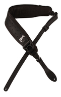 Gibson Switchblade Leather Guitar Strap Black with Memory Foam Pad