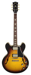 Gibson Custom Shop 1963 ES 335 Block Vintage Sunburst Aged