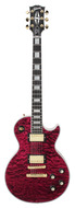 Gibson 68 Les Paul Custom Chambered Quilt Top Wine Berry 2010
