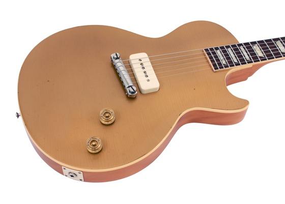 gibson custom shop electric guitar les paul top single pickup aged gold 1954 rainbow guitars. Black Bedroom Furniture Sets. Home Design Ideas