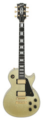 Pre-Owned Gibson Custom Shop Les Paul Custom Gold Sparkle Ebony Fingerboard