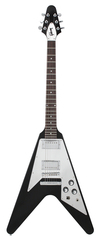 Gibson Custom Shop 70s Flying V Ebony with Mirror Pickguard