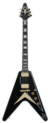 Pre-Owned Gibson Custom Shop Benchmark Collection 2013 Limited Run Flying V Custom Ebony