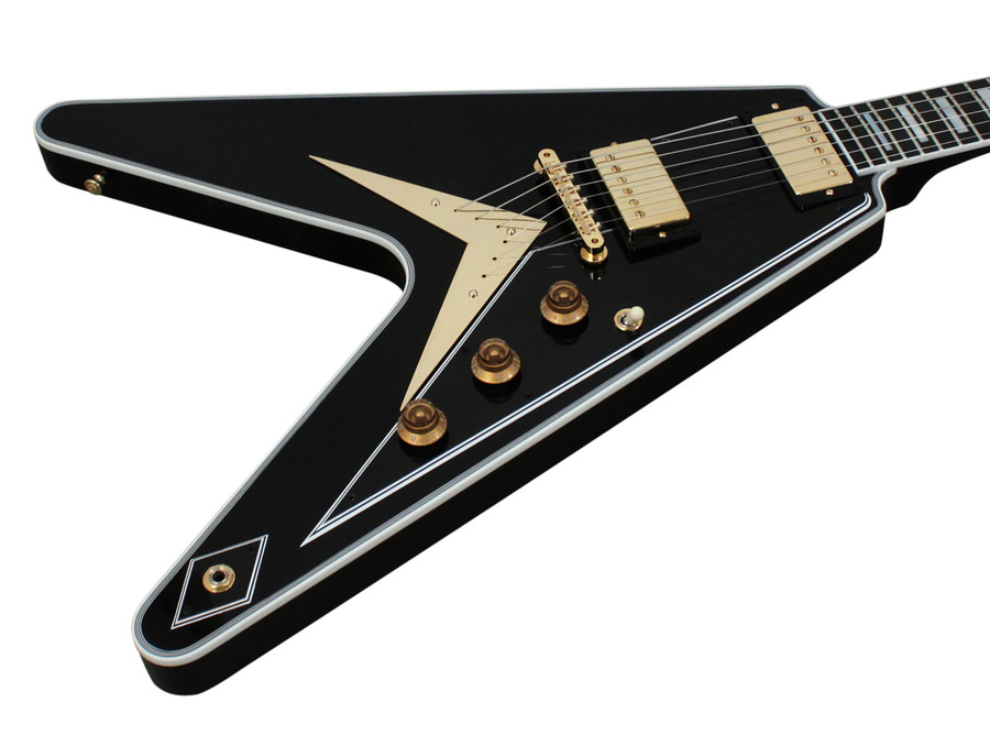 Gibson Custom Shop Limited Run Flying V Custom Ebony 2014 ...