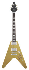 Pre-Owned Gibson Custom Shop Benchmark Collection 2013 Limited Run Flying V Gold Top
