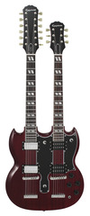 Epiphone Ltd Edition G-1275 Double Neck Cherry
