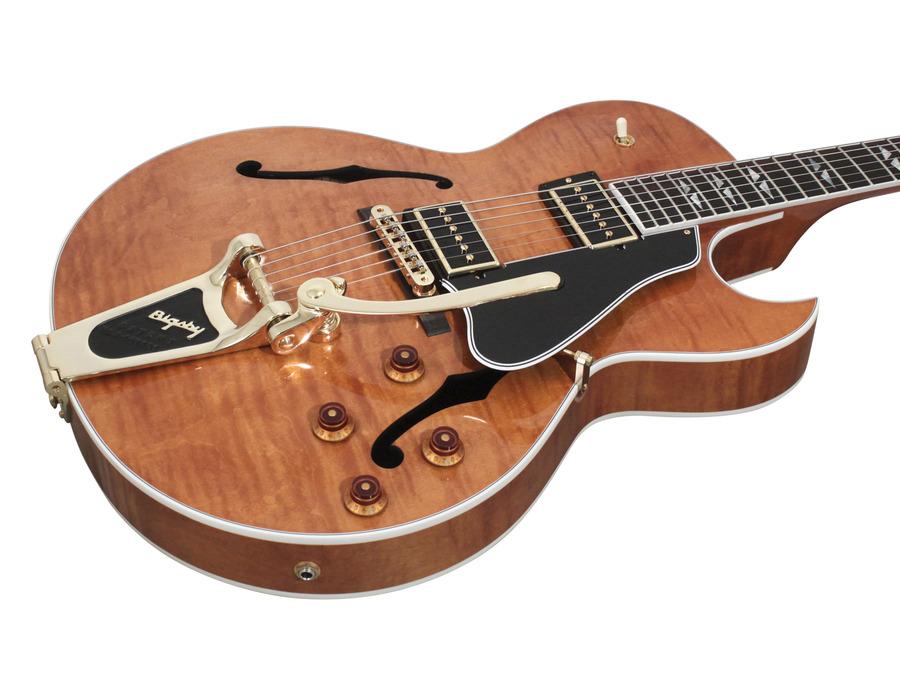 Gibson Figured ES-195 Trans Amber