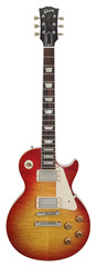 Pre-Owned Gibson Custom Shop 1958 Chambered Les Paul Flame Top Washed Cherry