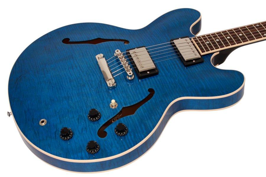 Gibson ES 335 Dot Figured Gloss Trans Blue
