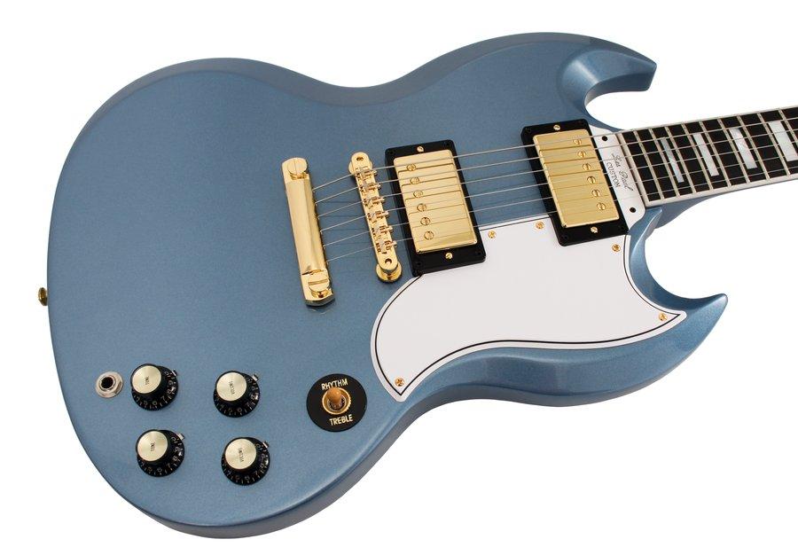 gibson custom shop electric guitar sg custom 2 pickup antique pelham blue rainbow guitars. Black Bedroom Furniture Sets. Home Design Ideas