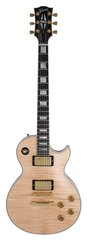 Pre-Owned Gibson Custom Shop Les Paul Custom Axcess Natural Flame Top Stop Bar 2010