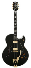 Pre-Owned Gibson Custom Shop Super 400 Lamp Black Florentine with Bigsby