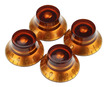 Gibson Top Hat Knobs Vintage Amber 4 pack