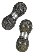 Gon Bops Mic Shaker Silver With Plastic Balls Inside