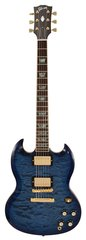 Gibson Custom Shop SG Elegant Quilt Top Blueburst