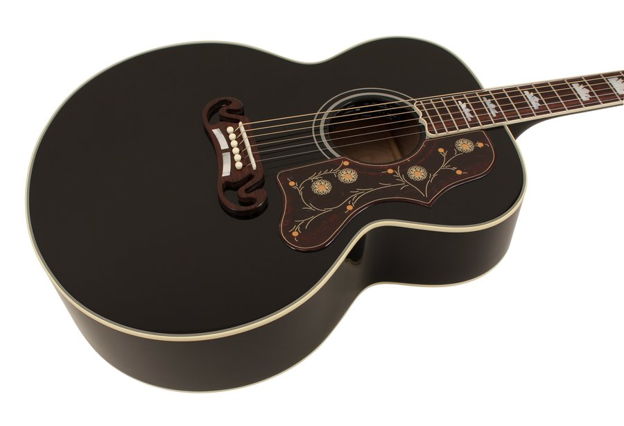 gibson limited edition sj200 ebony acoustic guitar rainbow guitars. Black Bedroom Furniture Sets. Home Design Ideas