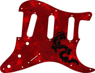 Greasy Groove Dragon Design<BR>Fender Style Strat Pickguard