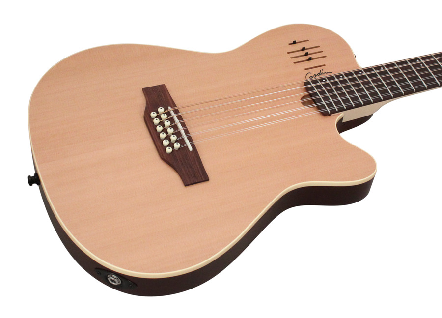 godin a 12 hollow body 12 string electric natural rainbow guitars. Black Bedroom Furniture Sets. Home Design Ideas