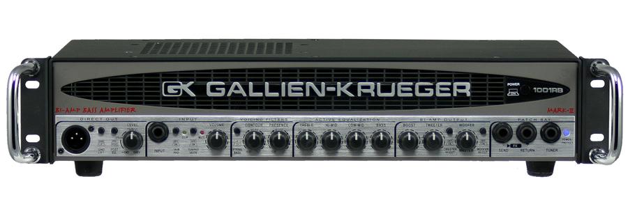 gallien krueger 1001rb ii 700 watt bass amplifier rainbow guitars. Black Bedroom Furniture Sets. Home Design Ideas