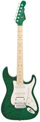 G&L Legacy HB Clear Forest Green Quilted Maple