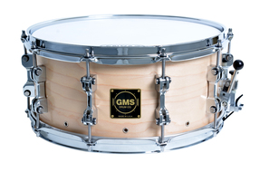 "GMS Drums ""PVS"" Perimeter Vented Snare Drum 6.5x14 Natural Satin Finish"