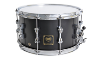 GMS Drums 8x14 Black Satin Revolution Snare Drum with Steel Interior