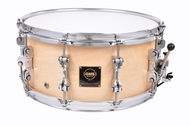 GMS Drums 6.5x14 Natural Revolution Snare Drum Brass Interior