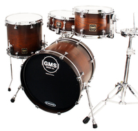 GMS Drums 4pc Shell Pack Chestnut Burst Finish