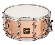 GMS Drums 6.5 x 14 Hand Hammered Copper Snare Drum
